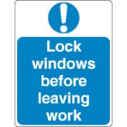 Mandatory Safety Sign - Lock Windows Before 106